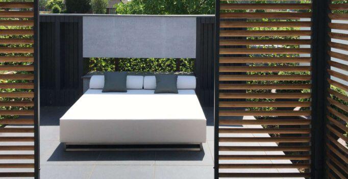 large garden lounger